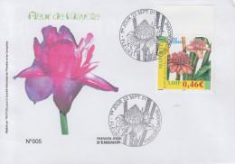 Enveloppe  FDC  1er  Jour    MAYOTTE    Fleur  De  MAYOTTE     DZOUMOGNE     2001