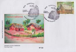 Enveloppe  FDC  1er  Jour    MAYOTTE   L' Habitat   Traditionnel    COCONI     2007