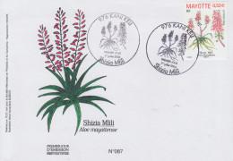 Enveloppe  FDC  1er  Jour    MAYOTTE   SHIZIA  MLILI      KANI  KELI   2006