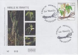 Enveloppe  FDC  1er  Jour    MAYOTTE   La   Vanille    COCONI   2009