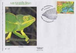Enveloppe  FDC  1er  Jour    MAYOTTE     Le  Caméléon   PAMANDZI   2007