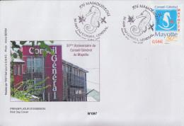 Enveloppe  FDC  1er  Jour    MAYOTTE    30  Ans  Du   Conseil  Général    MAMOUDZOU  2007