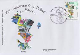 Enveloppe  FDC  1er  Jour    MAYOTTE    10  Ans  De  Philatélie    2007