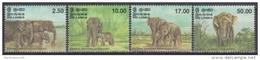 Sri Lanka 1998 Yvert 1147-50, Fauna, Elephants - MNH - Sri Lanka (Ceylon) (1948-...)