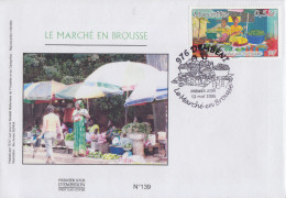 Enveloppe FDC  1er  Jour    MAYOTTE    Le  Marché  En  Brousse     DEMBENI    1997