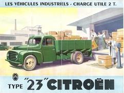 Dépliant Technique Publicitaire 4 Volets Camion CITROËN Type 23 Original D'époque - Trucks
