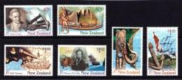 New Zealand 1997 Discoverers - Explorers Set Of 6 MNH - New Zealand