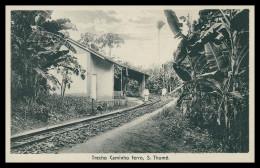 SÃO TOMÉ E PRÍNCIPE- Caminho De Ferro.  Carte Postale - Sao Tome Et Principe