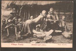 British East Africa. Kikuyu Family. Stamped Mombasa 1919 - Kenia