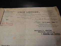 Devis Pour Une Installation De Soudure Autogène à L'oxygène.-1924- - Vieux Papiers