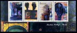 REPUBLIC OF KOSOVO 2014 Muslim Mulliqi 1934-1998, Paintings, Strip Of 4v** - Kosovo