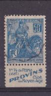 BANDE PUB  OBLITEREE 50 C  JEANNE D´ARC  TYPE II PROVINS 1 1/2 DE PARIS - Publicités
