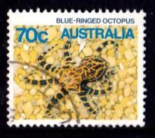 Australia 1986 Marine Life 70c Blue-ringed Octopus Used -  - - 1980-89 Elizabeth II