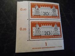 DDR 1960  Top Condition Druckvermerk Ecke  Michel  797 DV - Postfrisch / Mnh/** - [6] Democratic Republic