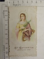 Image Religieuse - Sainte Catherine (pliure) - Images Religieuses
