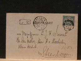 64/653      CP BRIEFKAART VAN TEN HAAG 1901 - Periode 1891-1948 (Wilhelmina)