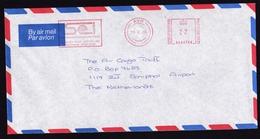 UK: Airmail Cover Ayr To Netherlands, 1985, Meter Cancel Scottish Express International, Transport (traces Of Use) - 1952-.... (Elizabeth II)