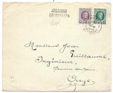 L Affr N°197+254Càd TIRLEMONT/1929 + Griffe Bilingue JODOIGNE Pour Oreye - 1922-1927 Houyoux
