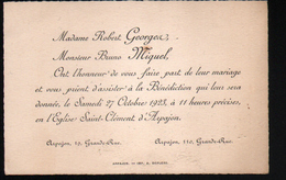 91, ARPAJON, FAIRE PART DE MARIAGE 1923 - Mariage