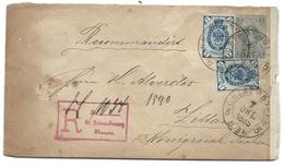 Envel L 7c + 7c Bleu X2 En Recommandé De St PETERSBOURG Pour L'Allemagne - Briefe U. Dokumente