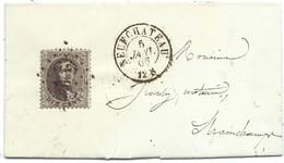 L Affr N°14 Lpts 269 NEUFCHATEAU/1865 Pour Strainchamps. TTB - 1863-1864 Médaillons (13/16)