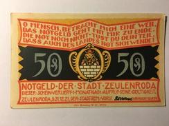 Allemagne Notgeld Zeulenroda 50 Pfennig 1921 NEUF - Collections