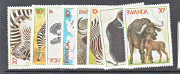 WILDLIFE- RWANDA - 1984- AFRICAN WILDLIFE  SET OF 8 MINT NEVER HINGED - Stamps