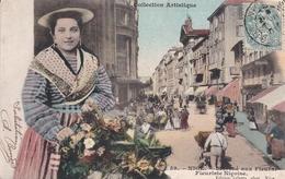 NICE MARCHE AUX FLEURS FLEURISTE NICOISE COLLECTION ARTISTIQUE  SCANS RECTO VERSO - Markten, Feesten