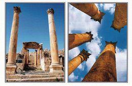 1 AK Jordanien Jordan * Cathedral Gate + Columns Of Artemis Temple In Jerash (auch Gerasa) - Antike Römische Stadt - Jordanien