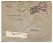 L Recom Affr N°144+186 (JO) De BRUXELLES/1921 Pour Arendonck - 1915-1920 Alberto I