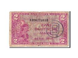 République Fédérale Allemande, 2 Deutsche Mark, 1948, KM:3b, B - [ 7] 1949-… : FRG - Fed. Rep. Of Germany