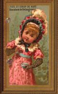 2 Chromos Pate Et Sirop De Nafe Racahout De Delangrenier - Fillette Enfant Violon -   - R/V - Confiserie & Biscuits
