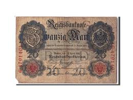 Allemagne, 20 Mark, 1910, KM:40b, 1910-04-21, AB+ - [ 2] 1871-1918 : Empire Allemand