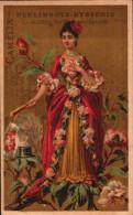 6 Chromos Berlingots EYSSERIC - Identique Liebig S217 - Femmes Fleurs - R/V - Confiserie & Biscuits