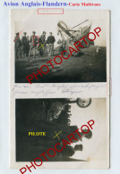 AVION Anglais-Pilote-CARTE PHOTO All. Multivues-NON SITUEE-Guerre 14-18-1 WK-Aviation-Fliegerei-Militaria-Belgien-!?- - 1914-1918: 1st War