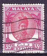 MAYALA KEDAH 1952 35 Cents Scarlet & Purple SG85b Fine Used - Kedah