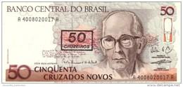 BRAZIL 50 CRUZEIROS ND (1990) P-223 UNC  [BR845a] - Brazil