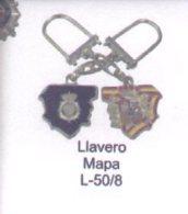 L-50/8. Llavero Mapa. CNP - Llaveros