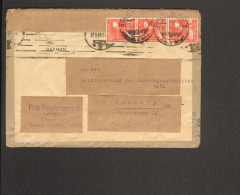 Alli.Bes. Fernbrief Mit 3 X 8 Pfg.Arbeiter Aus Osnabrück V.10.6.48 Brief Doppelt Verwendet - Gemeinschaftsausgaben