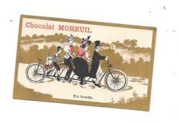 9557 - Chromo CHOCOLAT MOREUIL : En Famille, Vélo à 5 Places, - Altri