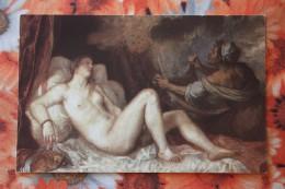 """Titian  """"Danae"""" - Dachshund - Teckel - Dackel - Bassotto  - Old Postcard - Cani"""