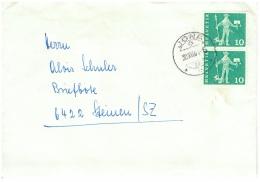 Schweiz/Suisse: Helvetia 10 - Mann Mit Hund Und Speer, 1964, 2 Scans - Suisse