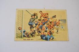 (MEL 2) CPA Carte Humoristique Sur Le Football - TOUS POUR UN ! - Football