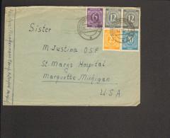Alli.Bes. Auslandsbrief Mit 6,2 X 12,20 U.25 Ziffer In Die USA Aus Oberhausen-Osterfeld V.25.7.47 - Gemeinschaftsausgaben