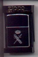 Meche-gc2. Mechero Zippo. Emblema Guardia Civil. Brillo - Zippo