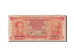 Venezuela, 5 Bolivares, 1989, 1989-09-21, KM:70b, B+ - Venezuela