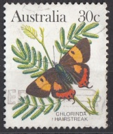 875A Australia 1983 Farfalle Butterflies Papillons Chlorinda Hairstreak Viaggiato Used - Schmetterlinge