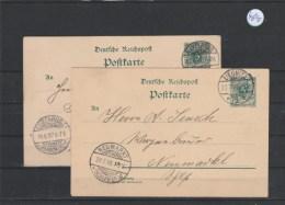 Deutsches Reich Ganzsache Echt Gelaufen   2x MiNr. P 36 I - Entiers Postaux