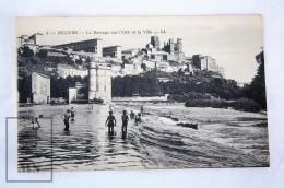 Old Postcard France, Beziers - Le Barrage Sur L'Orb Et La Ville - Unposted - Beziers