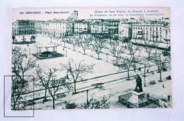 Old Postcard France, Beziers - Place Jean Jaures - Statue De Paul Riquet - Unposted - Beziers